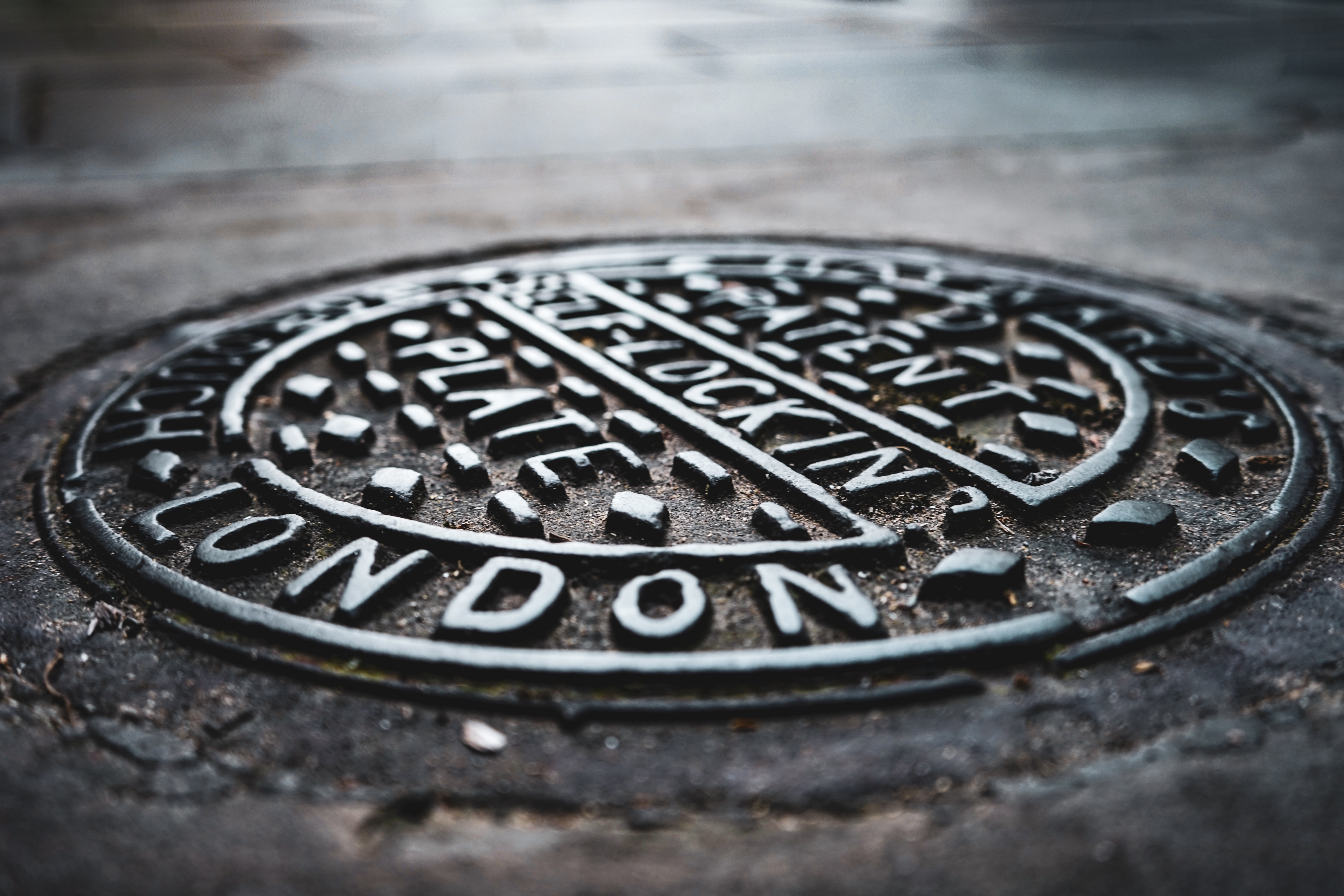 Manhole Cover of London Drains